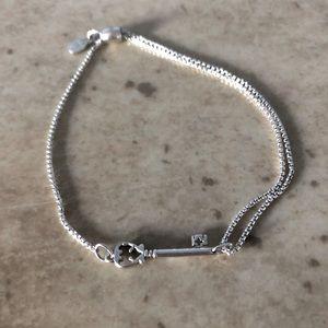 Alex and Ani Pull Chain Skeleton Key Bracelet